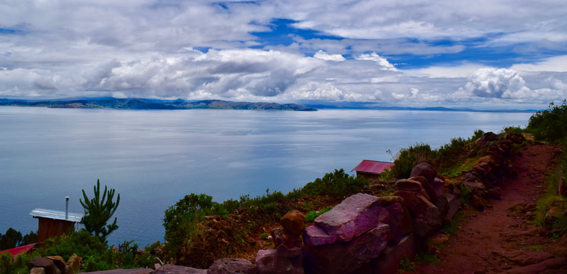 views taquile lake titicaca