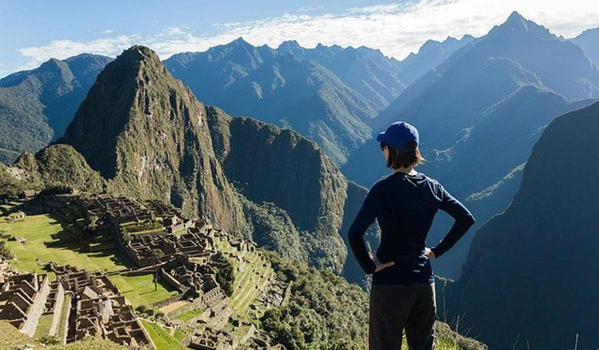person seeing machu picchu