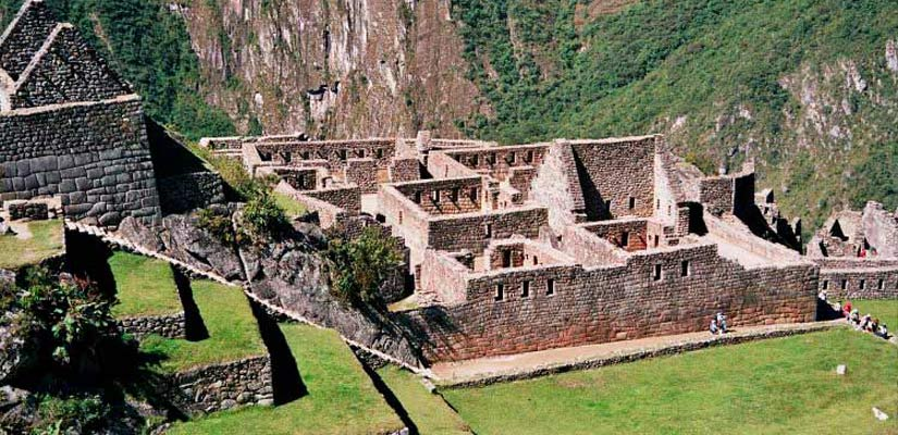 real residence ruins in machu picchu