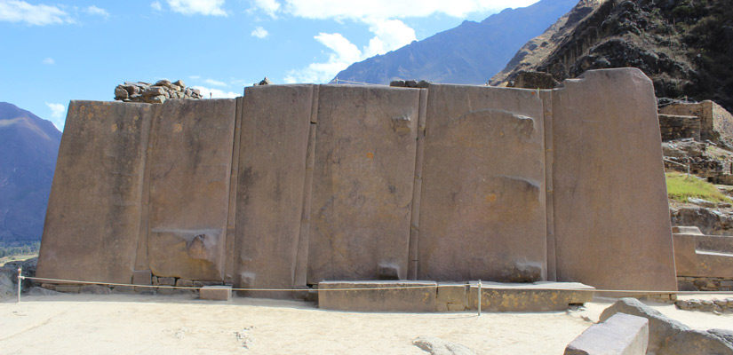 stone monument temple of the sun essential to do in ollantaytambo