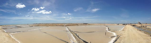manaure salt flats in colombia