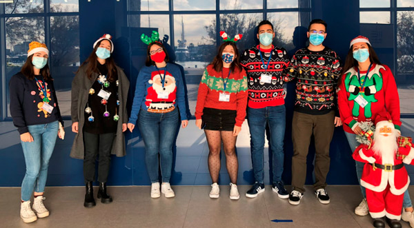 Howlanders team with Christmas sweater
