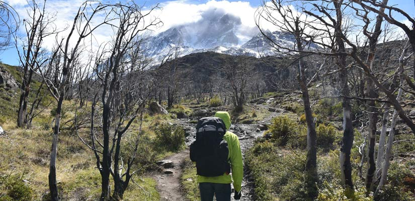 person on patagonia trail