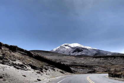 Road leading to the Chimborazo volcano