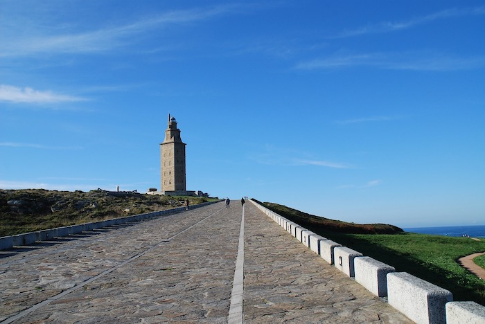 Path to Tower of Hercules in Galicia