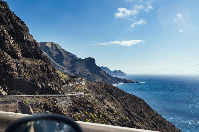 Sunny landscape in the Canary Islands