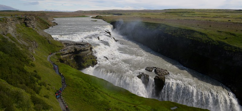overview of the gullfoss waterfall