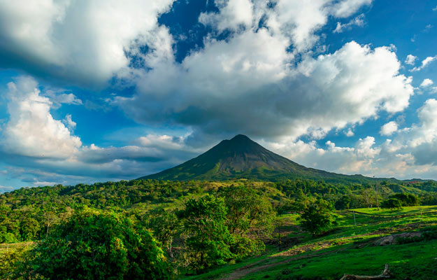 Views Arenal volcano in Costa Rica