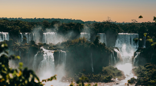 views of the iguazu falls from the brazilian side