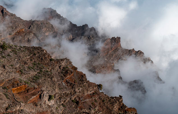 photograph from the heights of the Caldera Taburiente