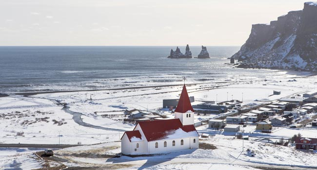 view of a church on iceland