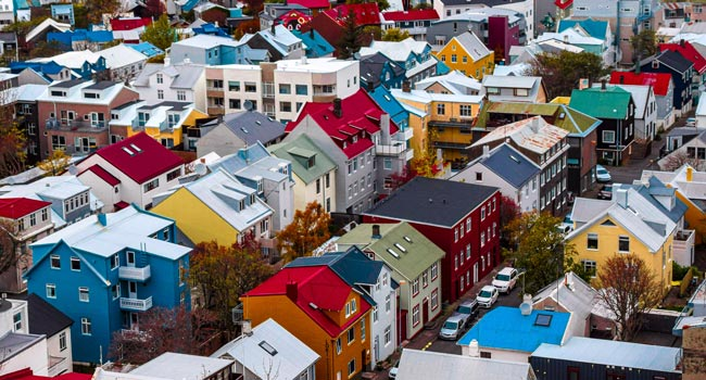 view of a neighbourhood in iceland