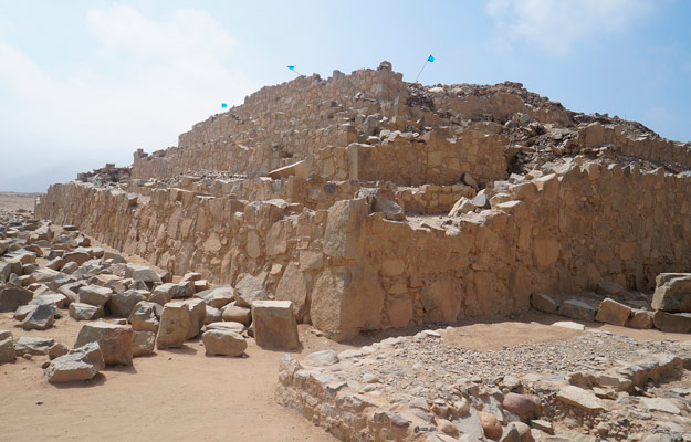 Ruins of the largest pyramid of Caral