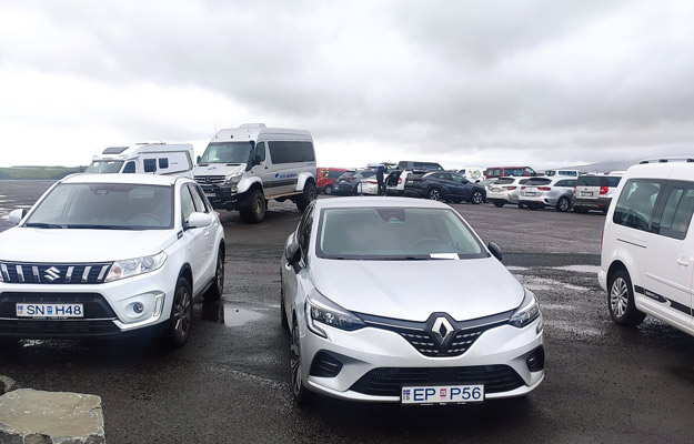 Some rental cars in Iceland
