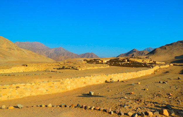 Ruins of Caral in the Supe Valley